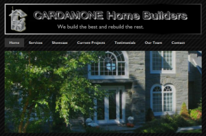 Cardamone Home Builders - Portfolio Website