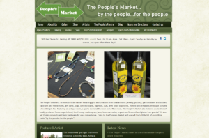 Peoples Market of Lansing - ecommerce website from Ithaca Web Marketing