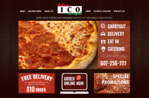 Italian Carryout - ecommerce website from Ithaca Web Marketing